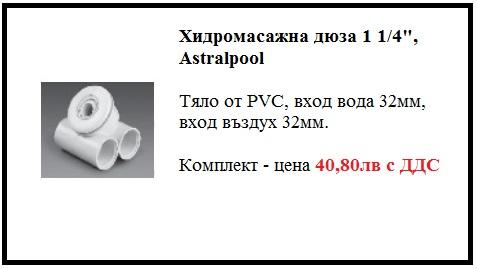 Хидромасажно оборудване - Хидромасажна дюза Astralpool