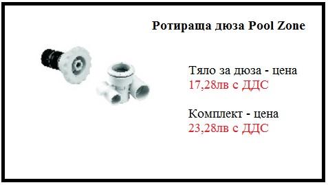 Хидромасажно оборудване - Хидромасажна ротираща дюза Pool Zone