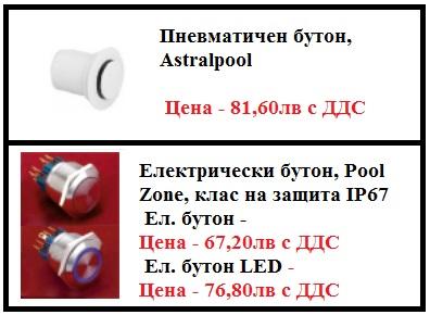 Хидромасажно оборудване - Пневматичен бутон