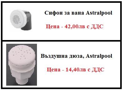 Хидромасажно оборудване - сифон за вана
