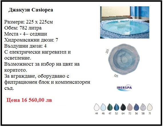 Хидромасажна вана джакузи с 4 места
