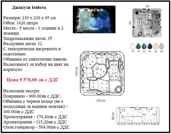 Хидромасажна вана джакузи с 5 места